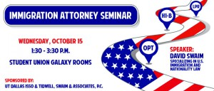 Immigration Attorney Seminar Banner Fall 2014