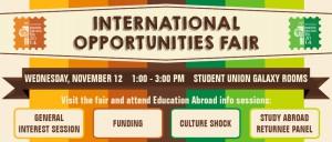 International Opportunities Fair Banner Fall 2014