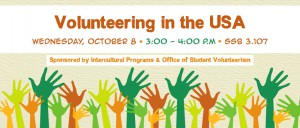 Volunteering in the USA Banner Fall 2014